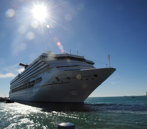 A cruise ship enters the harbor at Key West, Florida. SB 426 and HB 267 seek to reverse three new ordinances adopted by more than 60% of voters in Key West in November. The referenda ban cruise ships with more than 1,300 passengers from docking at the city and limit the number of cruise visitors who can disembark each day to 1,500 with the goal of protecting the coral reef and its ecosystem.