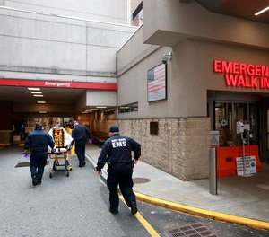 Nine New Jersey hospitals are diverting ambulance traffic after reaching capacity due to a number of factors including COVID-19 and influenza.