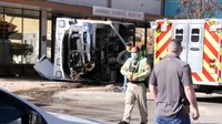 NM ambulance, police unit collide at intersection