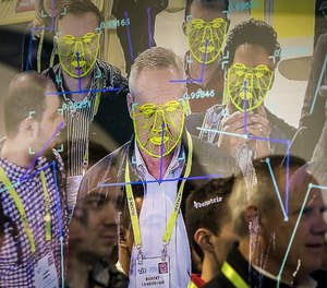 A facial recognition demonstration during the Consumer Electronics Show in Las Vegas, Jan. 8, 2019.