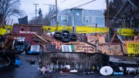 Portland eviction barricade sees 4th day; owner says he'd sell home back to family
