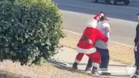 Santa and elf arrest suspects at Calif. shopping center