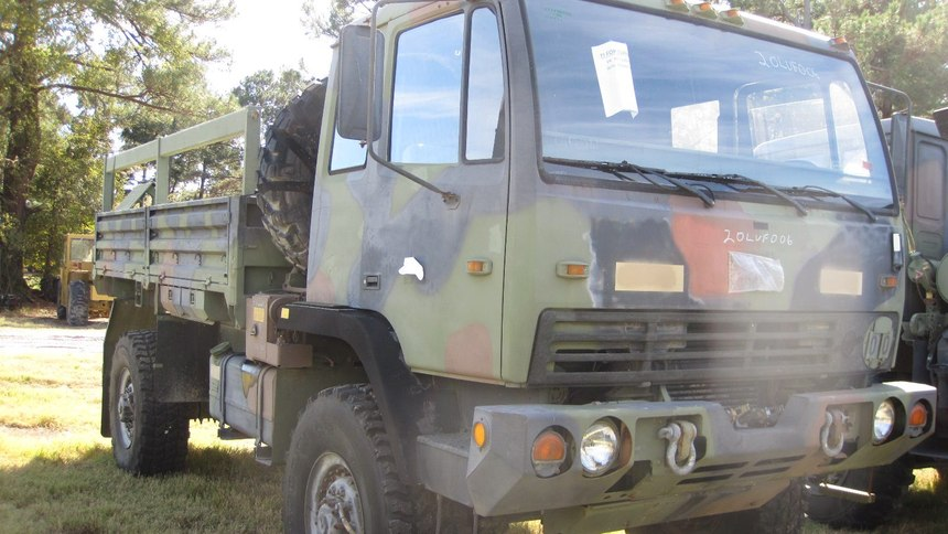 The Lorenzo Volunteer Fire Department received this excess military Stewart Stevenson truck through the Department of Defense Firefighter Property Program.