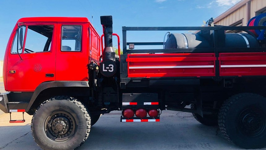 The department transformed the military truck into a wildland firefighting vehicle with help from a $16,300 grant through the Rural Volunteer Fire Department Assistance Program, administered by the Texas A&M Forest Service.