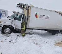 ND firefighters deliver PPE to hospitals after truck carrying supplies crashes