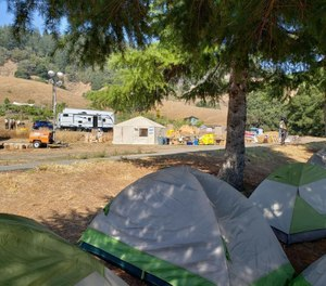 A firefighter battling the Woodward Fire says $7K in gear, including all of her camping gear, as well as financial equipment and time cards were stolen when her vehicle was burgled Tuesday. (Photo/Point Reyes National Seashore, National Park Service)
