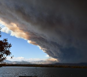 The Cameron Peak Fire in Colorado has burned 256 square miles, surpassing the previous state record set earlier this year by 40 square miles. (Photo/U.S. Forest Service)