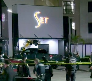 Four people were shot outside the Set nightclub in Houston early Sunday morning.
