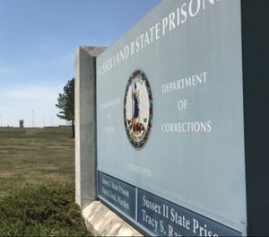The sign outside Sussex I & II State Prison.
