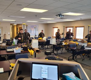 Iowa State Patrol troopers use Trimble R4sLE GNSS Receivers to collect forensic data.