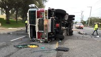 5 Fla. firefighters injured, other driver killed in apparatus collision