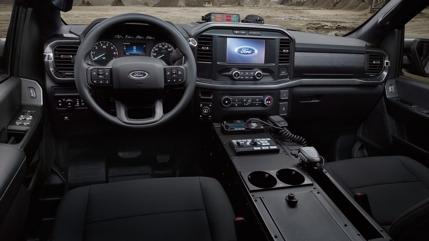 This photo shows the interior of the 2021 F-150.