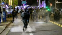 Portland police declare riot, arrest 6 after May Day unrest