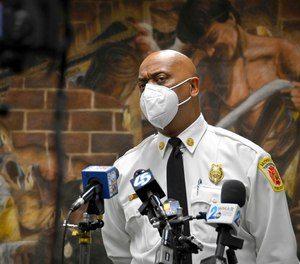 Baltimore Fire Chief Niles R. Ford said in a news conference Tuesday that claims the city does not have enough EMS units are false, after the firefighters' union said no units were available to assist at a quadruple shooting Sunday.