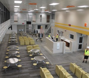 One of the general population pods at the new Franklin County Corrections Center. Deputies will be stationed with inmates in the new pods, which include cells, common areas and recreation space.