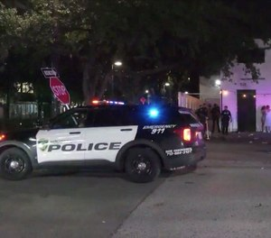 Scene of the shooting at Clé night club Monday, May 31, 2021, in Houston.