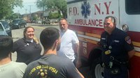 'A miracle I survived': Man reunites with FDNY EMS crew who rescued him after massive heart attack