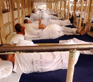 Overcrowding has been a habitual problem in Alabama's prisons. This 2003 photo shows the E Block of the Kilby Correctional Facilty filled to capacity.