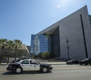 LAPD Headquarters on 1st St. in downtown Los Angeles.