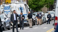 Man grabs gun from dying son's hands to continue battle with off-duty NYPD cops