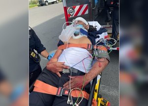The officer suffered a fractured skull, fractured eye orbitals and a broken nose during the attack.