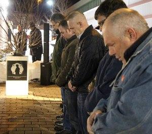 Members of Rescue 1 honor fallen Firefighter Jon Davies Sr.