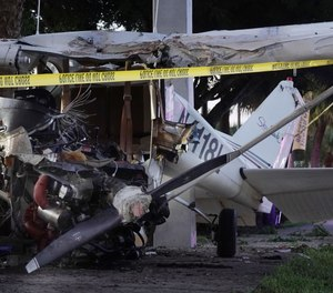Two women were seriously injured and had to be extricated when their small plane crashed in Miramar, Fla.