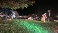 Va. firefighter hospitalized after battling mobile home fire