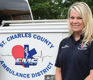 Lisa Cassidy was named Paramedic of the Year by the Missouri Emergency Medical Services Association.