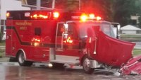 Ohio FD ambulance struck while responding to call