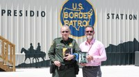 Border patrol agent brightens Texas station with mural