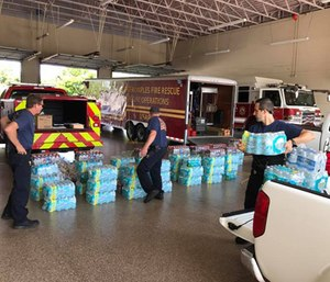 Greater Naples Fire Rescue District prepare for Hurricane Irma. (Photo/Greater Naples Fire District)