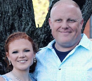 Pipe Creek Fire Department Firefighter Justin Guillemette contracted COVID-19 last month and is now on a ventilator and ECMO machine, according to his wife, Holli.