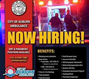 The flier first listed the starting salary as $14 an hour for an EMT and $20 an hour for a paramedic. The next day, the AFD posted a new flier with updated information. The salaries were bumped up to $16-$20 an hour, based on experience, for an EMT, and $22-$29 an hour, based on experience, for a paramedic.