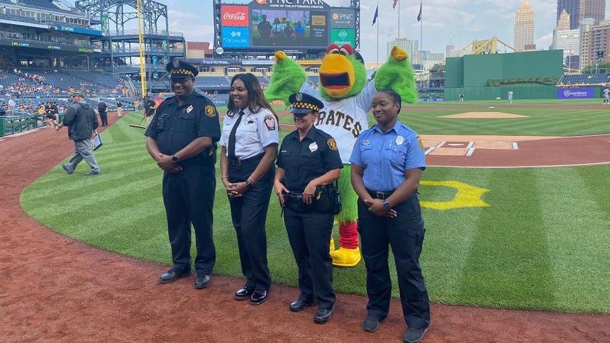 Left to right: Jeffery Crawford (Police), Lisa Epps-Cuda (Fire), Stephanie LaBella (Police), Dawn Williams (EMS)
