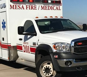 The city of Mesa is considering a shift from private to public ambulance services while expanding the Mesa Fire and Medical Department's ambulance fleet. (Photo/Mesa Fire and Medical Department Facebook)