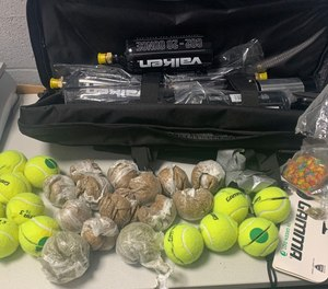Police said they found about a quarter-pound of marijuana and more than 1 pound of tobacco.