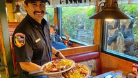 Calif. FFs bus tables at understaffed diner following meal