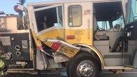 Mont. volunteer firefighters injured, truck totaled in crash