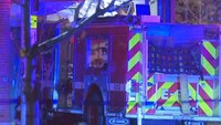 4 Boston FFs injured after fire truck crashes into bank