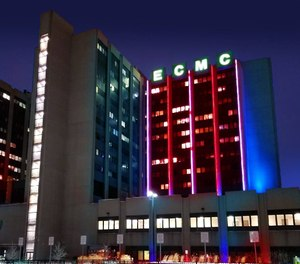 ECMC's trauma and emergency department, which dates to 1978, was built to serve 45,000 patients a year. But the department treats over 70,000 patients a year, including more than 7,400 transferred last year from other hospitals. (Photo/ECMC)