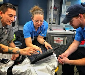There are simple ways to reduce the chance that your patient's information will fall into the wrong hands. (Photo/Richmond Ambulance Authority)