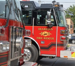 Dearborn firefighters said they were forced to sleep outside in their running trucks after their station was temporarily shut down due to black mold. (Photo/Dearborn Fire Department Facebook)