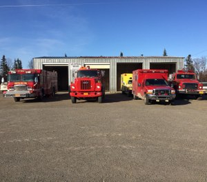 A man allegedly stole a fire truck from the Bristol Bay Borough Fire Department's King Salmon Fire Station and drove it about 15 miles to a bar with its lights activated before being arrested. (Photo/Bristol Bay Borough Fire Department Facebook)