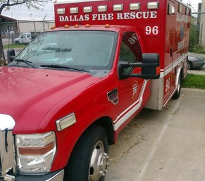 Twenty people, including four Dallas Fire-Rescue employees, were transported to the hospital following a carbon monoxide incident at a Dallas homeless shelter. (Photo/Dallas Fire-Rescue Facebook)