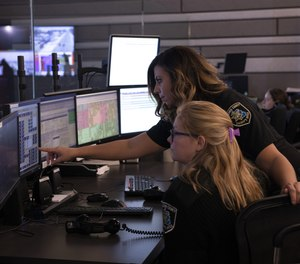 Dispatchers from Macomb County Sheriff's Office in Michigan using RapidSOS integrated with their New World Enterprise CAD system to improve location accuracy. (image/Tyler Technologies)
