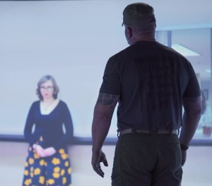 VirTra invited Chief Allen Muma, a seasoned police trainer, to preview their newest course, designed to help officers recognize the behaviors common among people with autism and adjust their response for more successful interactions. (image/VirTra)