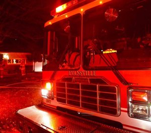Members of the Evansville Fire Department were first on scene of a man reportedly not breathing, when he attacked firefighters at the door.
