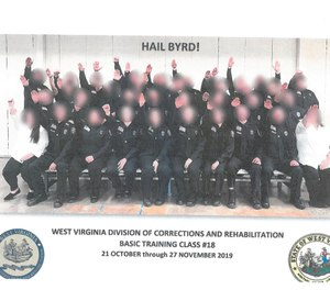 "The photo, an official one for the class, includes the caption ""Hail Byrd!"" – Byrd being the name of their primary academy instructor. (Photo/West Virginia Department of Military Affairs and Public Safety)"