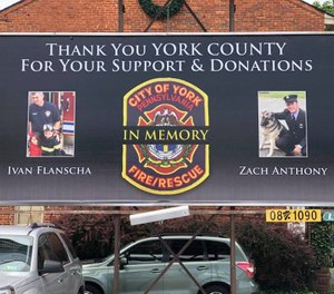 Ivan, 50, and Zach, 29, were killed March 22, 2018, when part of the former Weaver Piano & Organ Co. building at 127 N. Broad St. gave way. The structure had burned much of the previous day and the firefighters were putting out remaining hot spots. (Photo/York City Depart of Fire/Rescue Services)